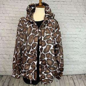Chico's Zenergy Jumbo Giraffe Jacket Sz 3/XL
